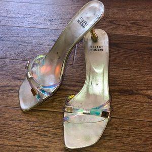 Stuart Weitzman Vintage Iridescent Heels size 8